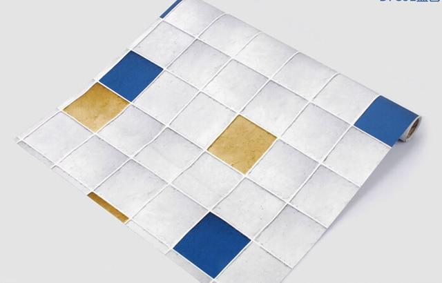 50mm larghezza pvc carta da parati mosaico bagno carta da parati ... - Carta Da Parati Adesiva Per Bagno