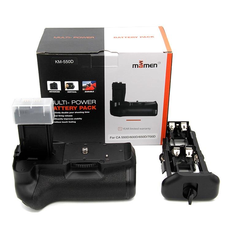 Batterie Grip KM550D Soutien 2 pcs LP-E8 Batterie 1/4 Universel Vis pour Canon 550D 600D 650D 700D T4i T5i Batterie Grip titulaire