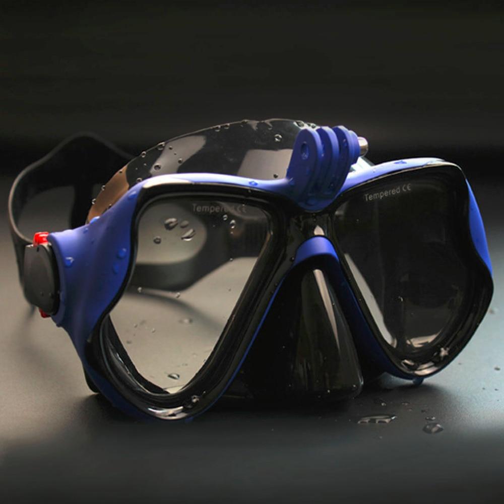 Caza submarina CÁMARA DE BUCEO máscara de buceo Snorkel gafas de natación para GoPro Xiaomi SJCAM cámara de deportes compras libres
