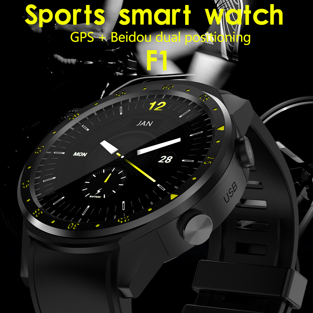 F1 sport smart watch 1.3'' GPS Sim TF with Multi-sport Dials Mode Heart Rate tracker Sleep Monitor smartwatch for IOS Android itormis bluetooth gps smart watch smartwatch sim card phone watch fitness heart rate tracker multi sport mode for android ios