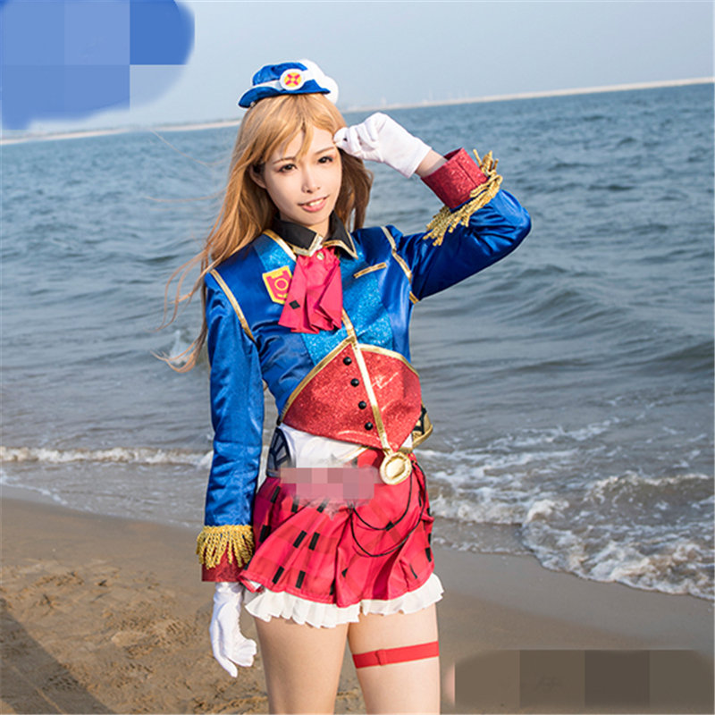 Anime Love Live Sunshine Aqours Happy Party Train Tour Kunikida Hanamaru Cosplay Costume Women Halloween Costume