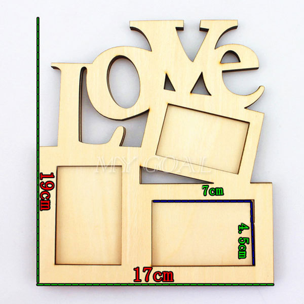 Sweet Love Wooden Photo Frame With 3 Wood Picture Frame Diy Gift