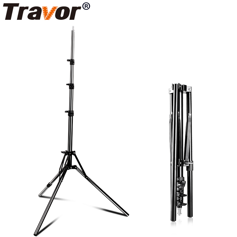 Travor Foldable Light Stand Tripod With 1/4 Screw For Led Ring Light Umbrella Softbox Lightbox Reflector Flash Light Support