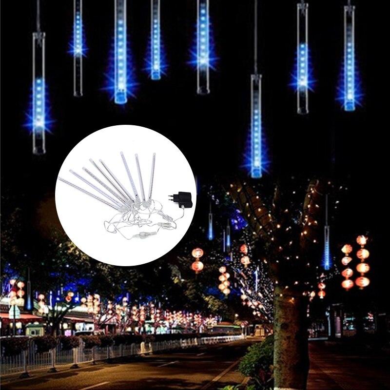Новые 8 шт./лот 30 см открытый яркий Метеор Лампы для мотоциклов украшения сада ЕС Plug