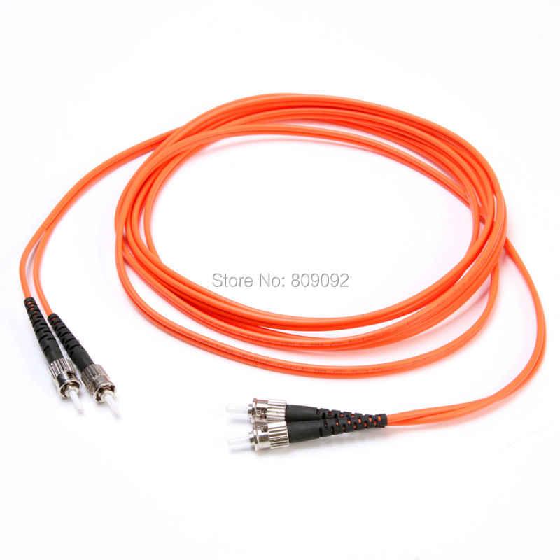 3 m hoge kwaliteit st naar st duplex multimode 62.5/125 fiber patch cord orange jumper lood kabel