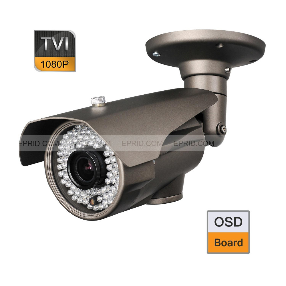 CCTV 1080P 2.0MP 2.8-12mm Lens Security HD-TVI Bullet Camera OSD Board 84 IR 1080p 2 0mp 2 8 12mm motorized lens security hd tvi bullet camera osd board 84 ir