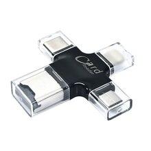 4-в-1 кард-ридер с поддержкой OTG USB 3,1 Тип-C ноутбук смартфон Компоненты Micro SD Карты памяти и аксессуары для iPad iPho