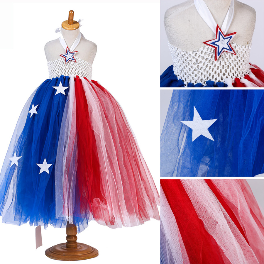 American Independence Day Halloween Unicorn Party Kids Dresses For Girls Cosplay Princess Dress Children Carnival Costume Girls