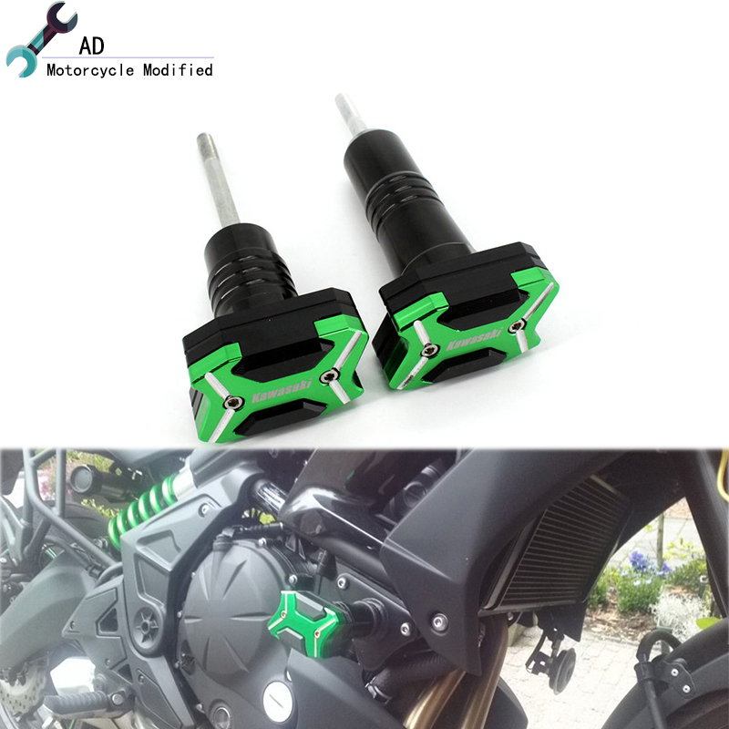 Motorbike Parts Frame Sliders For Kawasaki Versys 650 2016 2015 Crash Pads Protection Aluminum CNC Motorcycle Accessories Moto цены онлайн