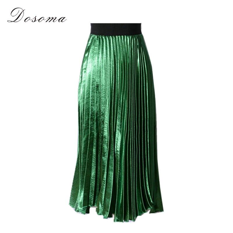 Online Buy Wholesale metallic pleated skirt from China metallic ...