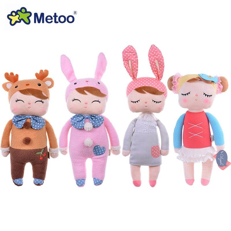 Genuino Metoo Angela muñecos de peluche bebé de juguete para los niños de la muchacha juguetes de los niños regalo encaje Bunny conejo de peluche animales de peluche de juguete con caja