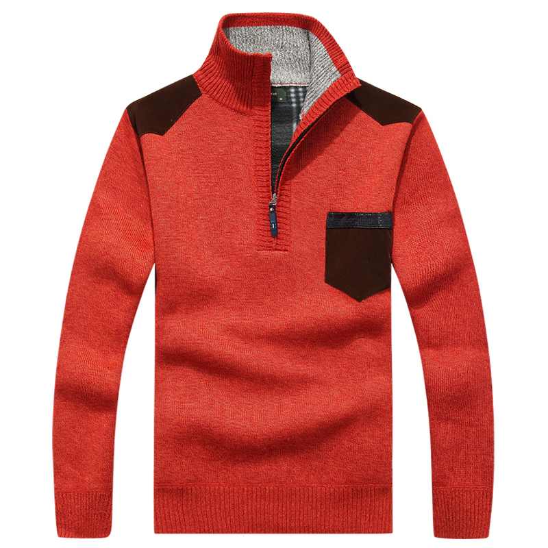 Image 4 - AFS JEEP mens sweaters 2018  brand pullover men half zipper casual knitwear winter sweater turtleneck men clothing christmas men-in Pullovers from Men's Clothing