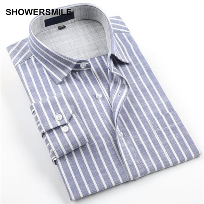 Showersmile brand linen shirts men long sleeves plus size no iron cotton flax business casual - How to unwrinkle your clothes with no iron ...
