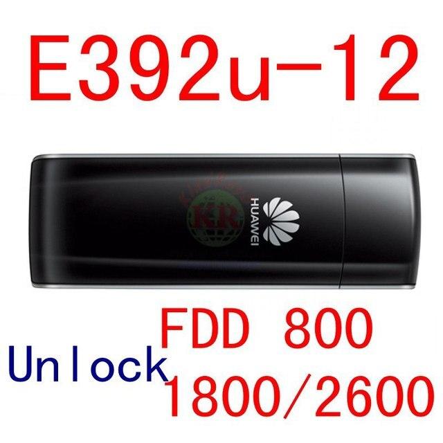 Abierto Original de Huawei E392 E392U-12 4 G LTE USB Modem palillo 3 G 4 G USB dongle soporta FDD 800 / 1800 / 2600 Mhz e398 pk e3131
