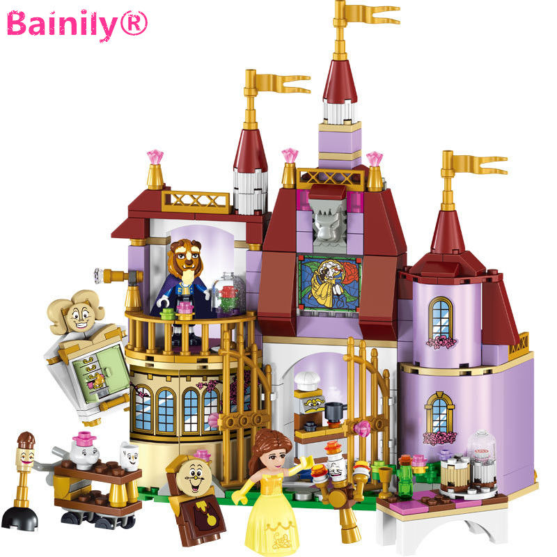 [Bainily]Beauty and The Beast Princess Belle's Enchanted Castle Building Blocks Girl Kids Toys Compatible with LegoINGly Friends enchanted wanderer the