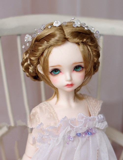 Doll wigs twist gold brown color hairs imitation mohair wigs available for 1/6 1/4 1/3 BJD SD DD MDD doll accessories for doll free shipping 1pieces extension doll wigs 15 100cm natural color curlyai doll hr for bjd sd russian tilda doll wigs