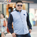 BIG GUY 6xl 7xl 8xl Large Size Mens Clothing 2016 Spring Male Shirt Oversized Casual Long Sleeve Shirts For Men 1407 PZ3