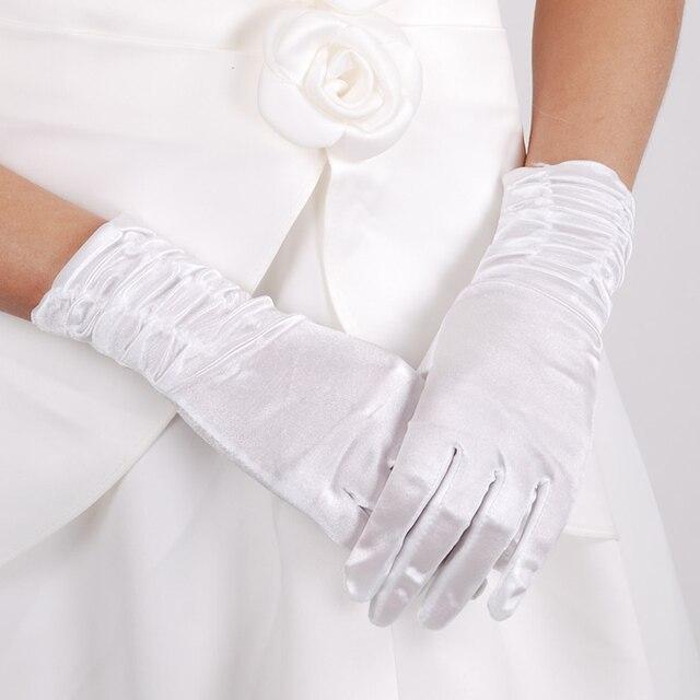 Free Shipping 5pcslot Satin Gloves Formal Dress Gloves Wedding