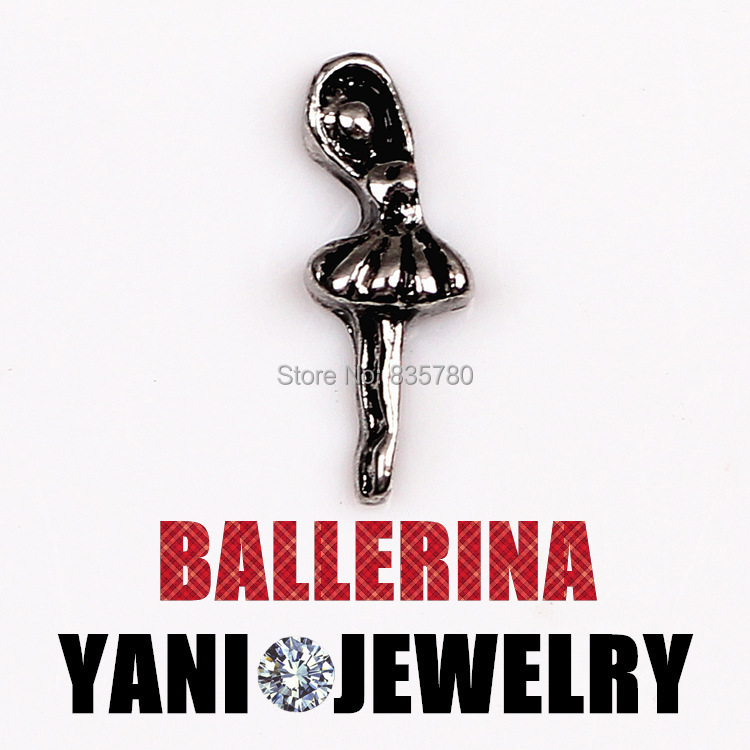 Free Shipping, 20pcs Zinc Alloy Ballerina Floating Charms Fit For Lockets, Gifts, Pet Collar