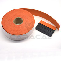 5cm*10m/Roll Self Adhensive 3m Orange Squeegee Felt For Car Wrapping