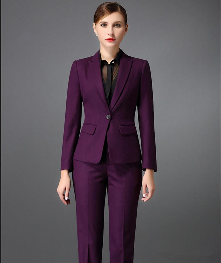 big selection of 2019 factory hot-selling discount US $62.4 20% OFF|Custom Made Autumn Bussiness Formal Elegant Women Suit Set  Blazers Pants Office Suits Ladies Pants Suits Trouser Suits-in Pant Suits  ...