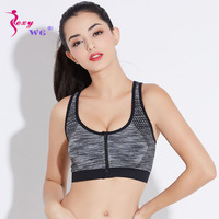 560bbff9774e6 SEXYWG Woman Yoga Sports Bra Zipper Push Up Sport T-shirt Shockproof Gym  Fitness Athletic