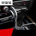 Car styling 100% Geniune carbon fiber Car Gear Shift Knob Cover Level Head Sheath For Audi A4 A5 S5 A6 A7 Q5 Q7 Auto accessories