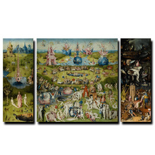 Home Garden - Home Decor - Hieronymus Bosch World Famous Oil Paintings Print On Canvas Paradise Decorative Wall Art Pictures For Living Room Cuadros Poster