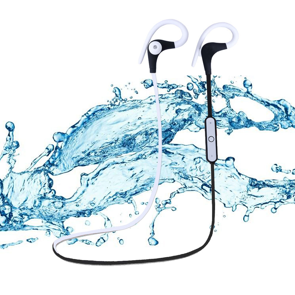 Wireless Bluetooth Earphone Headphone Bluetooth 4.1 HIFI Stereo Sport Running Headset Sweatproof With Mic
