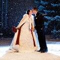 Inverno quente Personalizado 2017 Quente Nupcial Cape Casaco De Pele Das Mulheres Casaco branco marfim bolero de Casamento Jacket Nupcial Cloaks Casamento Barato