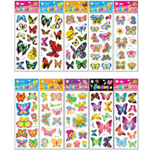 10Pcs Different Butterfly Sticker Toys for Children Gift Kindergarten Sticker Animal Cartoon Decoration on Phone Book No-repeat(China)