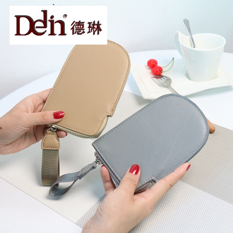 DELIN  Wallet Key package bag retro female Korean version of the new PU carrying a small bag of short retro small square korean version of the printing bag graffiti shape shoulder mini oblique cross female package