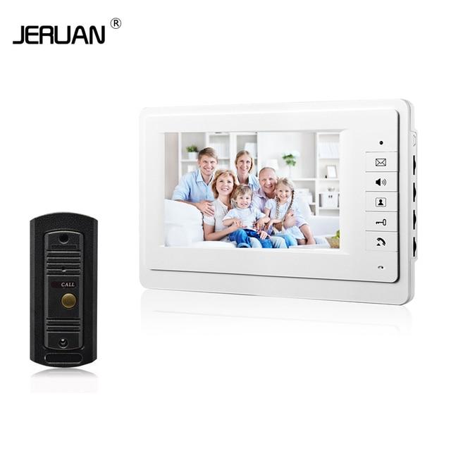 JERUAN HOT SALE! 7 inch TFT Color Video door phone Intercom doorphone kit IR  system outdoor Metal panel &IR camera