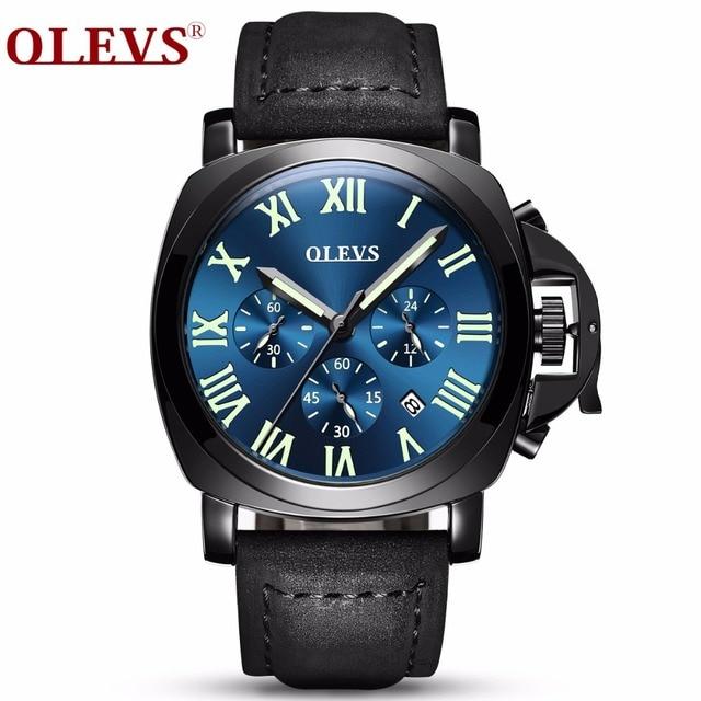 d3e470607f3 OLEVS Relógio automático Calendário Masculino Relógio de Pulso de Luxo Moda  Relógios Luminosos Popular Party Boy
