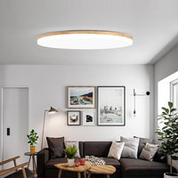 Ultra thin 5cm 18W LED Ceiling lighting Modern Wooden Ceiling lamps for Living Room chandeliers Ceiling for the hall