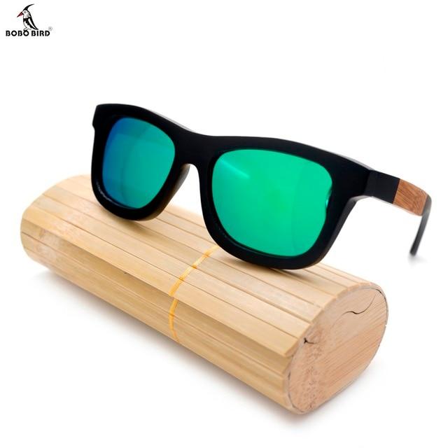 Hölzerne Sonnenbrille Bambus 9MQJo44