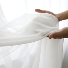 Tende bianche tende moderne in Tulle bianco solido per soggiorno tende in Tulle trasparente finestra trasparente per la camera da letto 184 e C