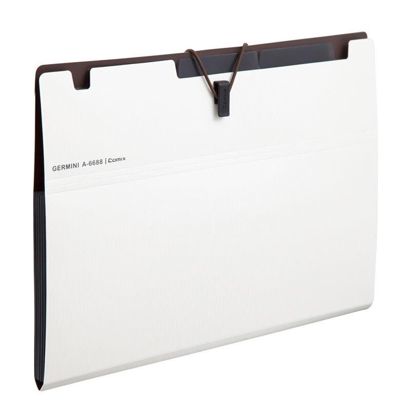 Comix 6 Layer Expanding File Folder Organ Bag A5 Organizer Paper Holder Document Folder School Supplies