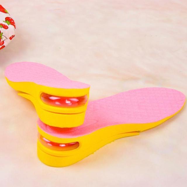 NOVO 2 Camadas Mulheres 5 cm (2.5 polegada) Air Cushion Aumentar A Altura Palmilhas Taller Pad Shoe, Rosa roxo W13-WY