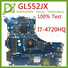 KEFU GL552JX For ASUS ZX50J laptop motherboard GL552JX mainboard rev2 0 i7 4720HQ cpu onboard tested