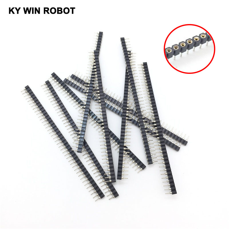 10PCS/LOT 1x40 Pin 2.54mm Single Row 40 Pin Round Female Pin Header Connector Free shipping цена