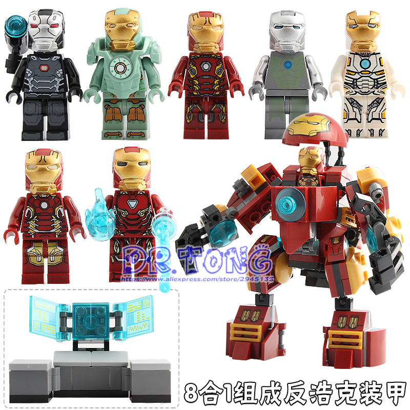 The Avengers Infinity War Iron Man MK44 Model Assembled Building Blocks Action F