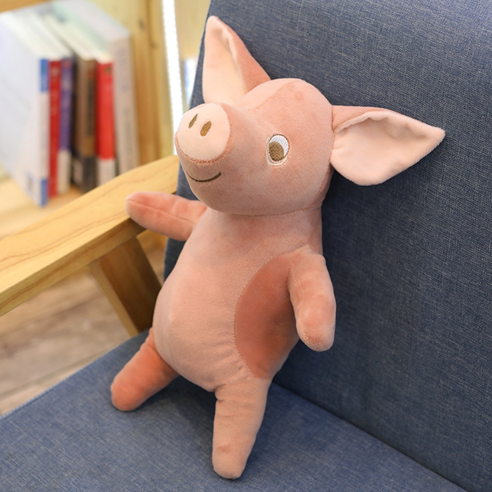 1 pcs Feather cotton Cherries pig doll plush toys standing posture simulation small pig doll simulation pig baby