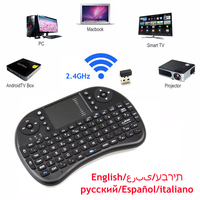 Mini Keyboard I8 Russian Hebrew Arabic Air Mouse Multi Media Remote Control Touchpad Handheld For Android
