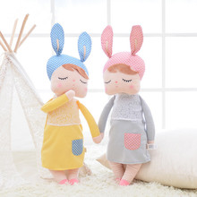 pelucia peluches Rabbit Ears Girls Accompany Newborn Baby kids comforting SoftToys Sleeping Stuffed &Plush toy doll Angela INS