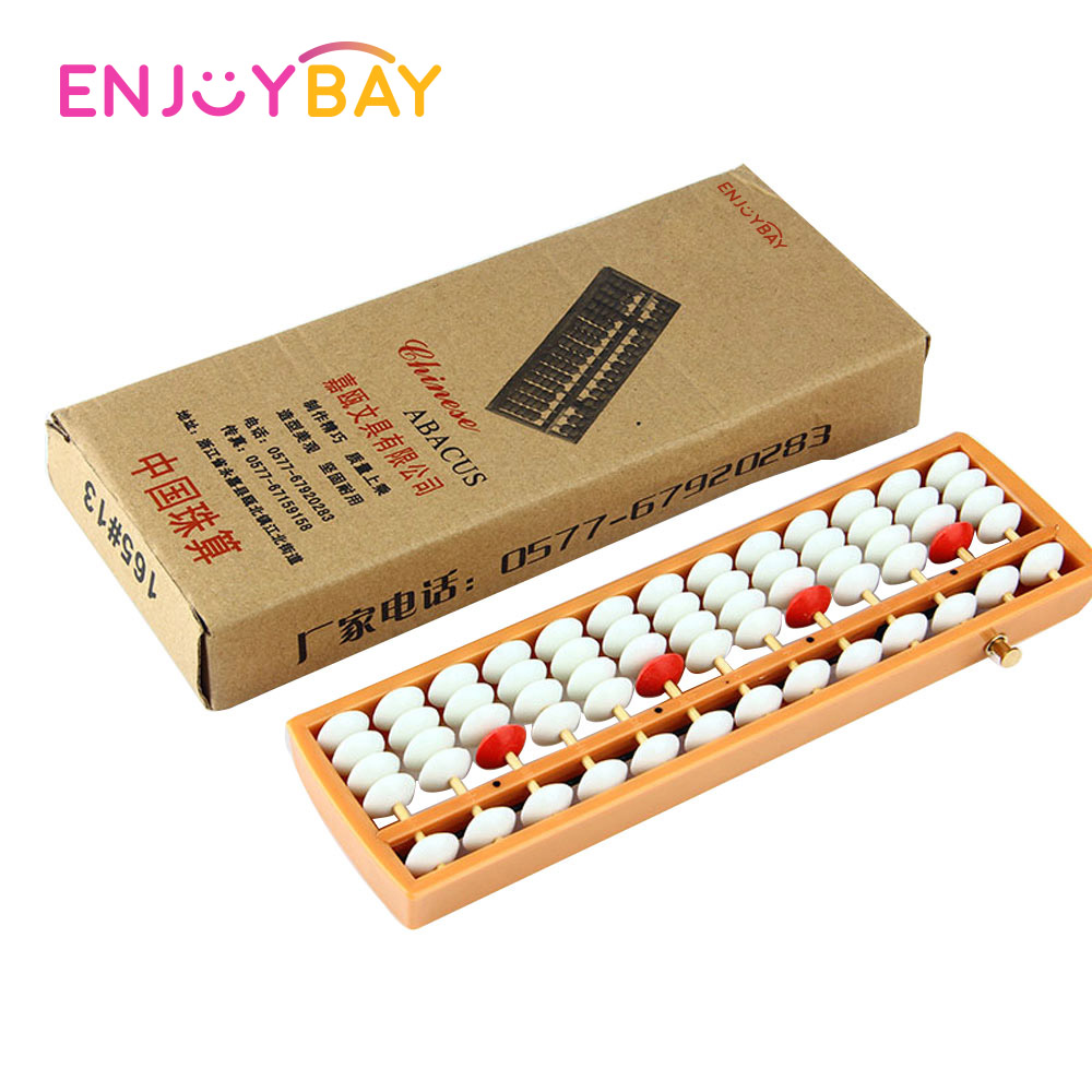 Enjoybay 13 Digits Plastic Abacus Portable Soroban Toy Math Learning Caculating Tool Arithmetic Teaching Toy (Russia Sending)