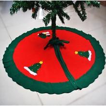 87cm Snowman Tree Skirt Nonwovens Christmas Tree Skirt Bells Christmas Supplies