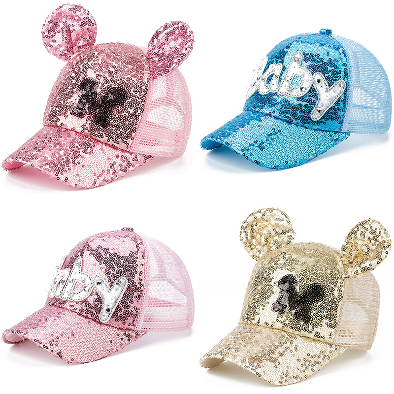 Kids Caps Baseball-Cap Sun-Hats Adjustable Autumn Girls Summer Cartoon New Mesh Cute