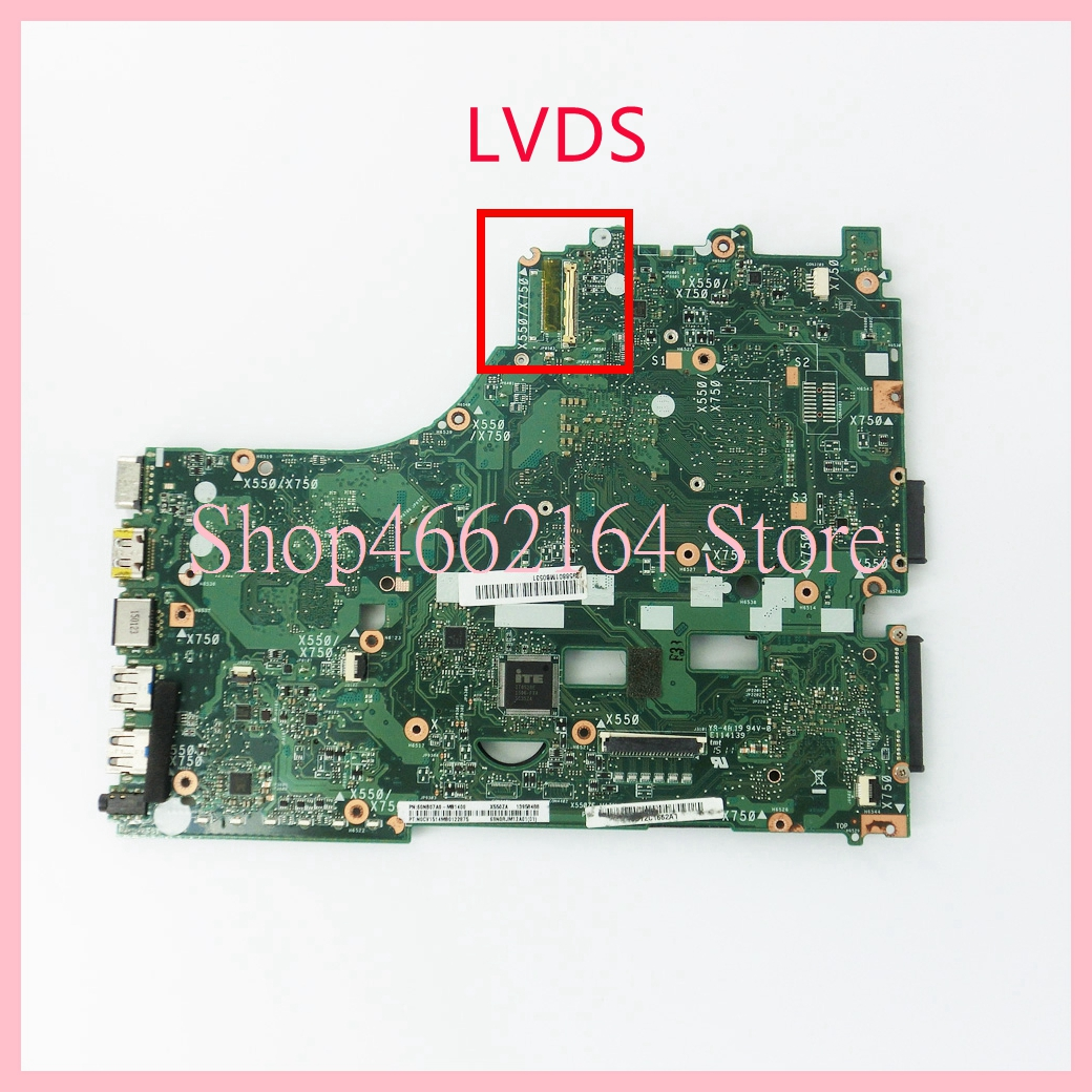Image 2 - X550ZA motherboard REV2.0 For ASUS X550ZA A10 7400CPU Laptop motherboard X550 X550Z X550ZE Notebook mainboard fully tested-in Laptop Motherboard from Computer & Office