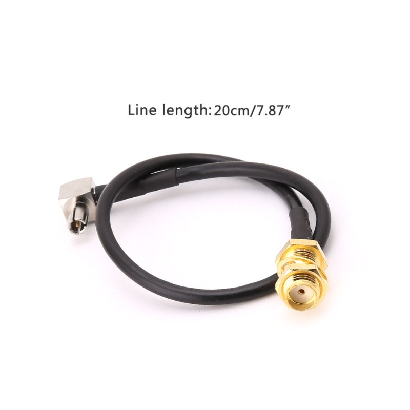 SMA Female Jack To TS9 Male Right Angle RG174 Pigtail Cable 20cm Antenna Coaxial CablesSMA Female Jack To TS9 Male Right Angle RG174 Pigtail Cable 20cm Antenna Coaxial Cables